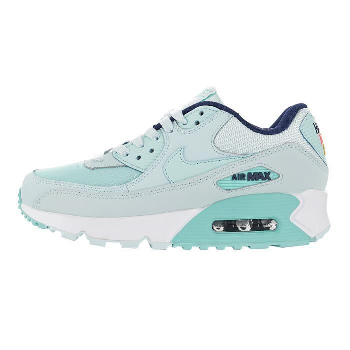 Baskets Nike Air Max 90 Femme Bleu Vert Vert - Cdiscount Chaussures
