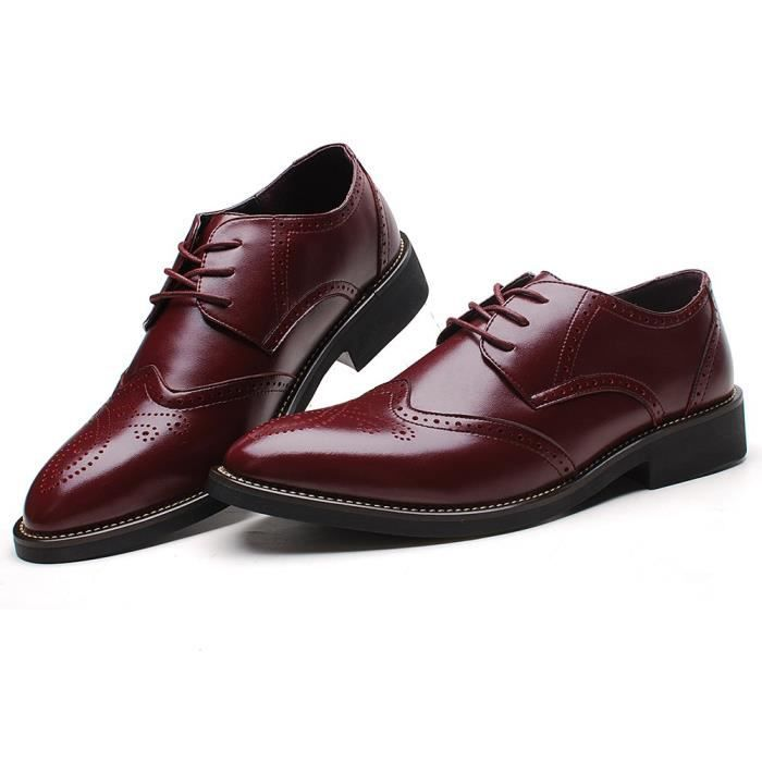 Rismart Office Dress Brogue Leather Oxfords Shoes U0GKG Taille-42