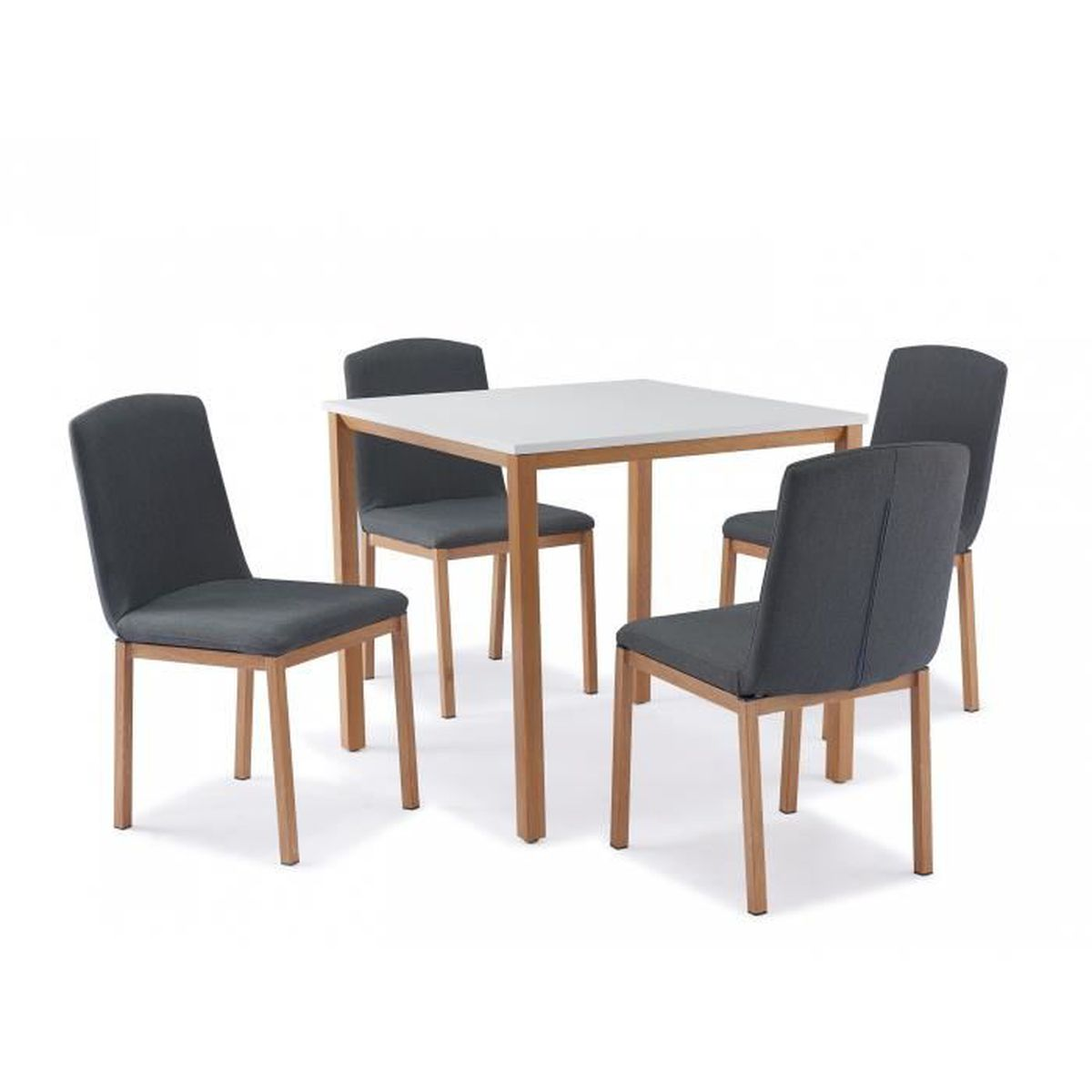 Table carr e 4 chaises scandinave achat vente table for Table scandinave carree