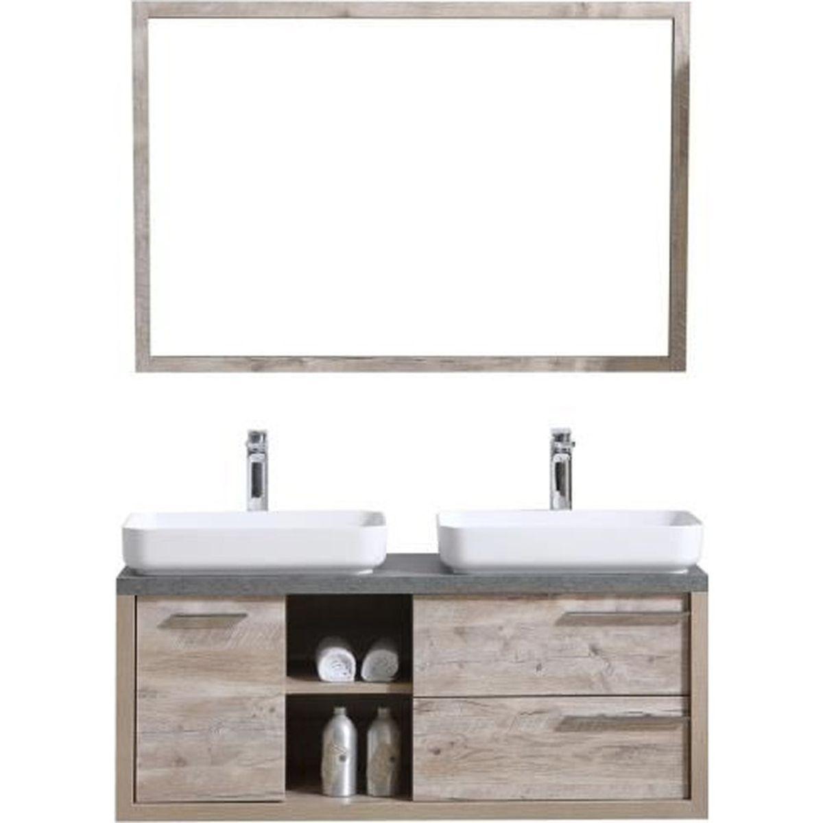 Miroir Salle De Bain 120 meuble de salle de bain vermont 120cm lavabo nature wood