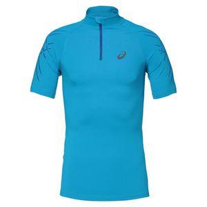 MAILLOT DE RUNNING ASICS Inner Muscle Tee shirt - Demi zip Homme - Bl