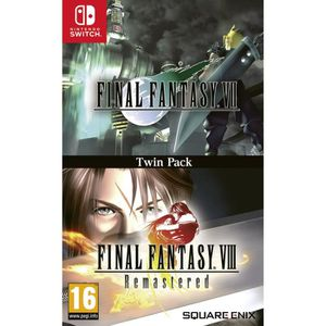 JEU NINTENDO SWITCH FINAL FANTASY VII + FINAL FANTASY VIII REMASTERED