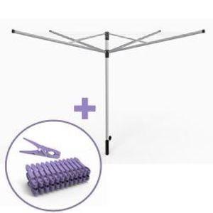FIL À LINGE - ÉTENDOIR Etendoir à linge parapluie Premium 60 m+ housse de