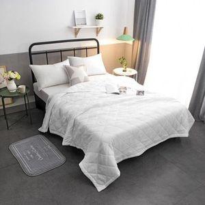 JETÉE DE LIT - BOUTIS 1pcs Blanc 200*150cm Couverture Quilt été conforta