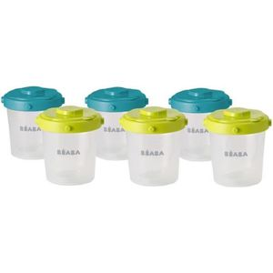 CLIP POT BÉBÉ BEABA Lot de 6 portions clip 2ème âge 200ml (color