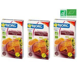 CÉRÉALES - MÉLANGES BJORG Palets Céréales Lentilles Curry Bio 200g X3
