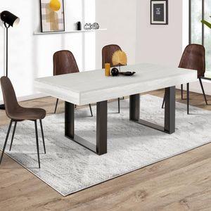 TABLE À MANGER SEULE Table à manger PHOENIX 160 CM bois gris