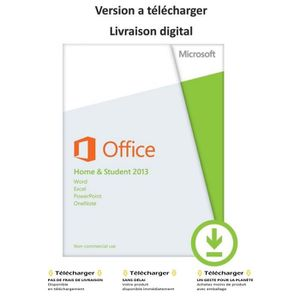 LOGICIEL BUREAUTIQUE  Microsoft Office Home and Student 2013 - Licence …