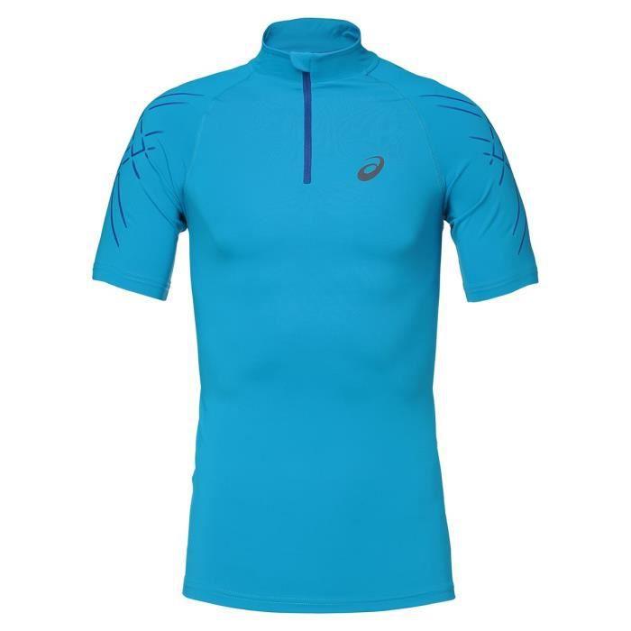 ASICS Inner Muscle Tee shirt - Demi zip Homme - Bleu
