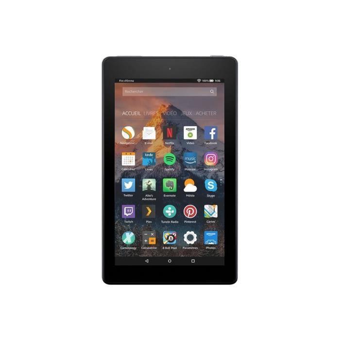 """Amazon Fire 7 Tablette Fire Os 5 (Bellini) 8 Go 7"""" Ips (1024 x 600) Logement Microsd noir avec Offres spéciales"""