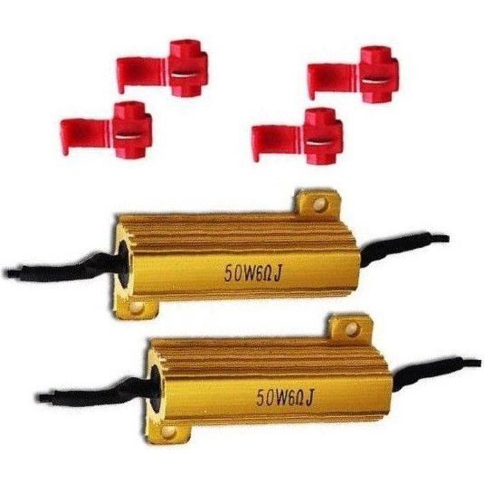 2 x Resistance 50W 6 OHM pour Clignotant LED 12V Voiture Moto