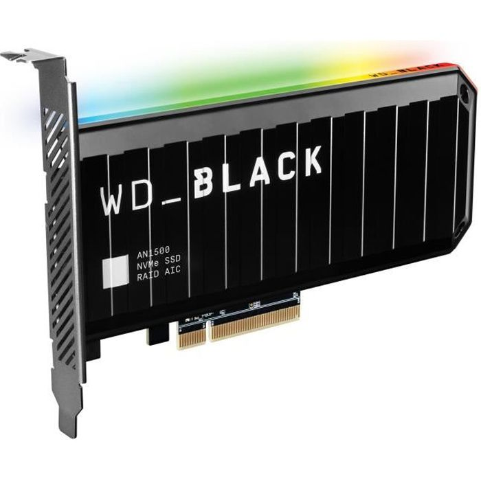 WD Black™- Disque SSD Interne - AN1500 - 1To - M.2 NVMe (WDS100T1X0L)