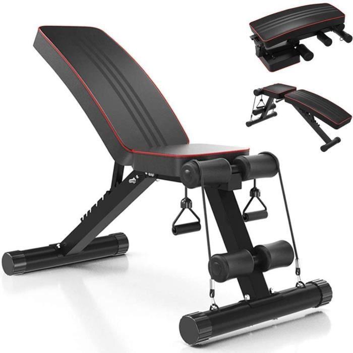 Banc de musculation réglable/pliable,Banc d'entraînement pour la salle de gym à domicile