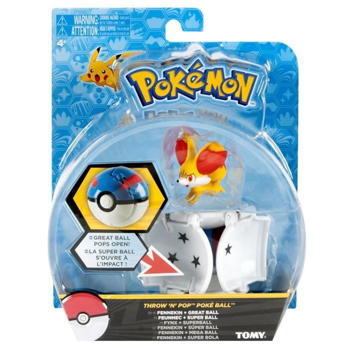 Tomy Pokémon - T18876 - Throw'n'pop pokéball Feunnec