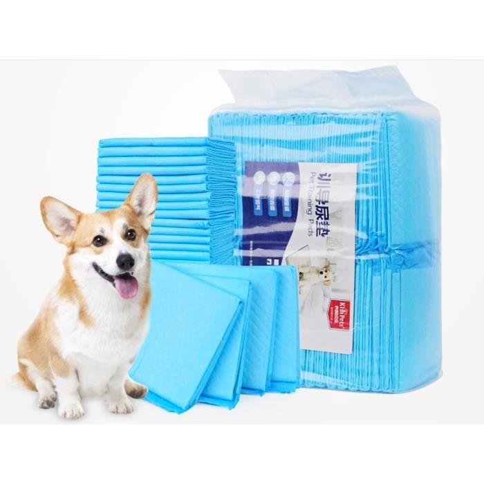 100pcs tapis de propreté pour chien tapis alèse réducateur afraichissant chiot chaton apprentissage chat animalerie alaises 33*45cm