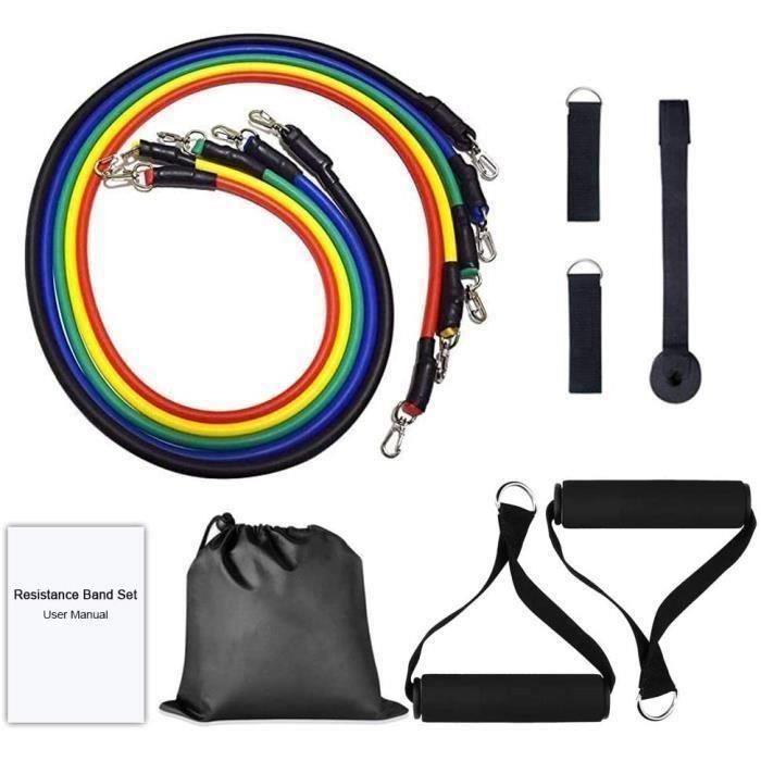 Bandes Elastiques Musculation - Bande de Résistance Set, Fitness Elastiques Kit, pour Musculation