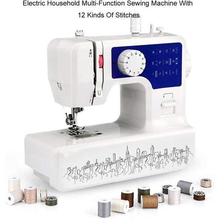 LEXLIFE Machine à Coudre Electronique - 12 types de points - 2 vitesse - machine à coudre Professionnelle Coud Tous Les Tissus Bleu