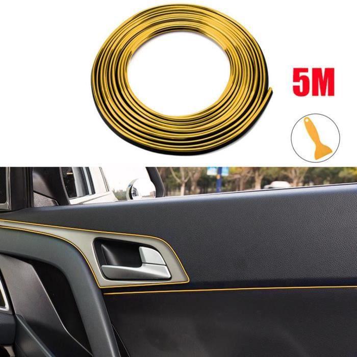 Bande de garniture de porte pour intérieur de voiture, Super Flexible, 5M, fente, bord de moulage, ligne décorative univ*KY5441