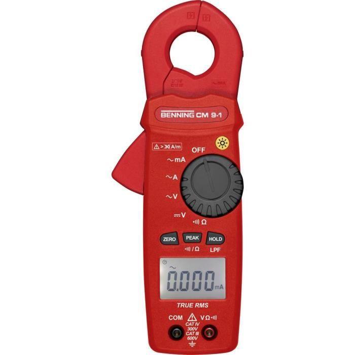 Pince ampèremétrique Benning CM 9-1 044682 numérique CAT IV 300 V Affichage (nombre de points): 6000 1 pc(s)