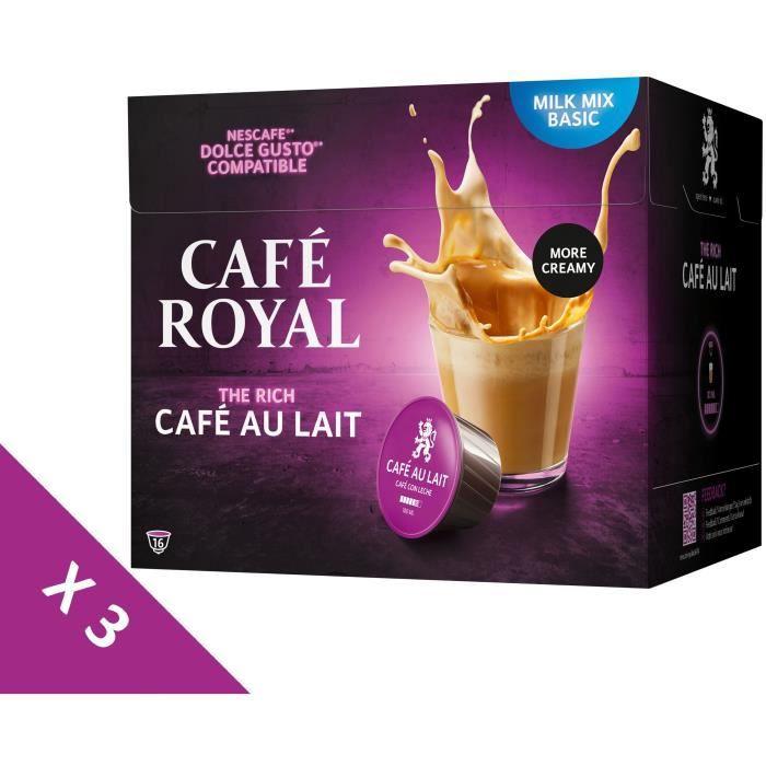 [Lot de 3] CAFE ROYAL Café au lait Compatible Dolce Gusto x16