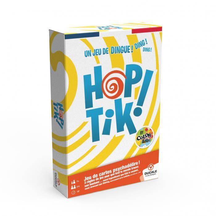 DUCALE - Le Jeu Français : -HOPTIK!- by Color Addict- jeu de 110 cartes- avec un buzzer.
