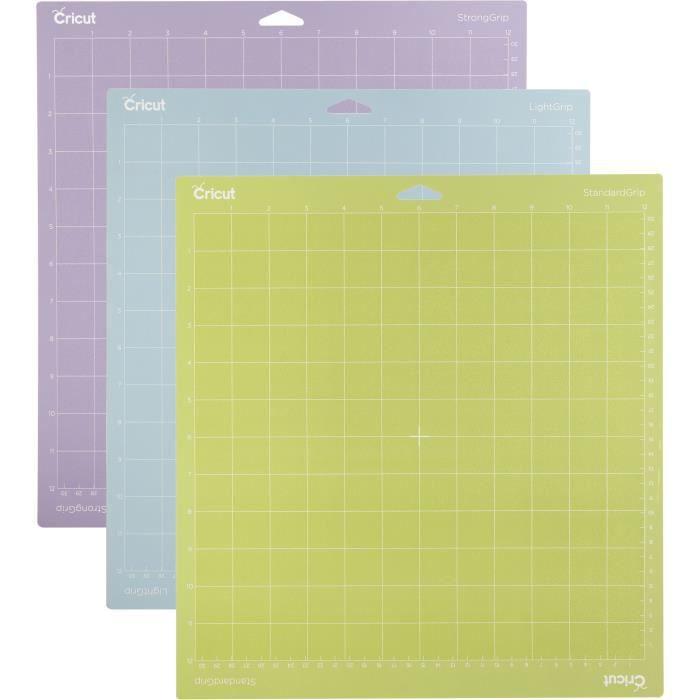 Cricut - Lot de 3 Tapis de découpe Maker & explore Air 2 - 30 x 30 cm