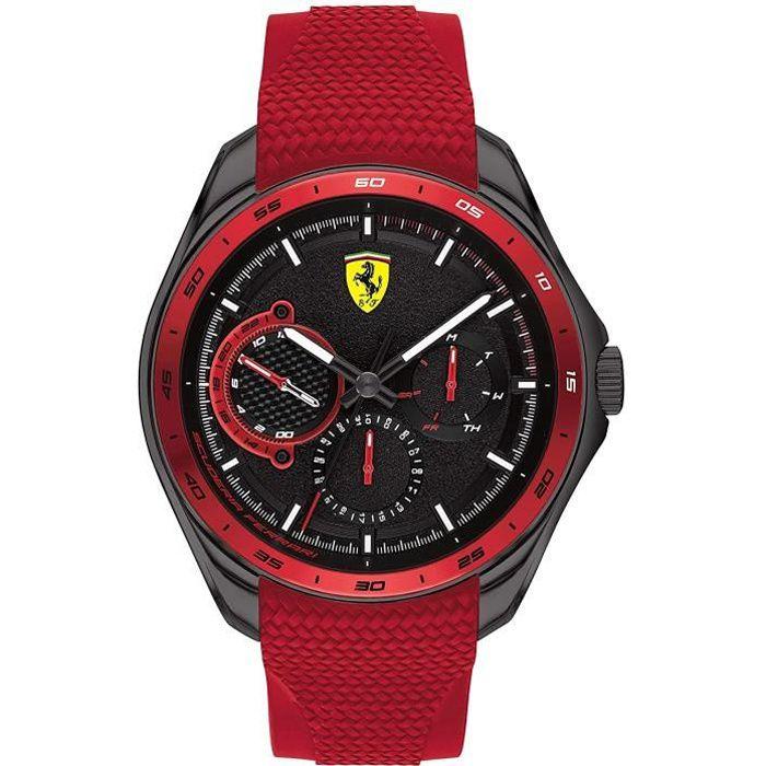 Ferrari-Montre Multi-Cadrans pour Homme à movement Quartz en Silicone - 0830681