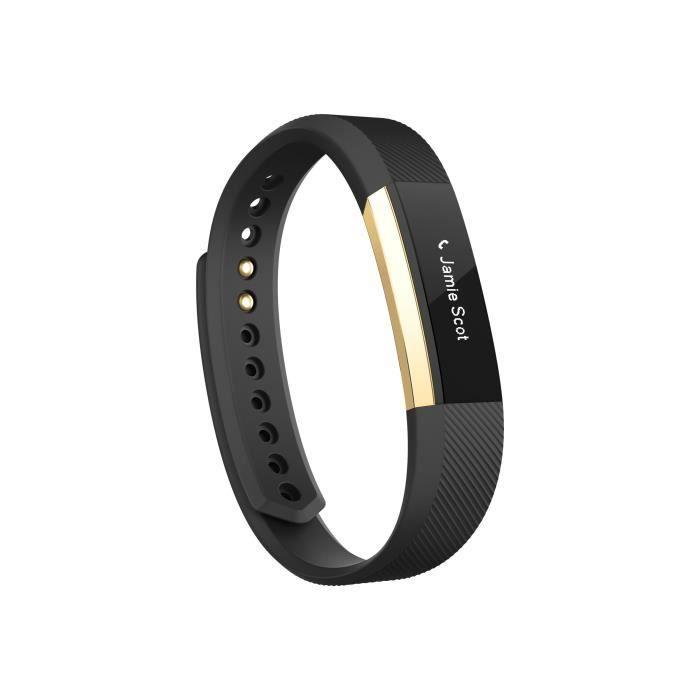 Fitbit Alta Special Edition or suivi d'activités avec bande élastomère noir Petit monochrome Bluetooth