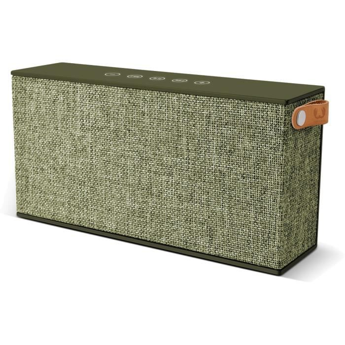 FRESH 'N REBEL ROCKBOX CHUNK FABRIQ Enceinte Bluetooth Vert armée