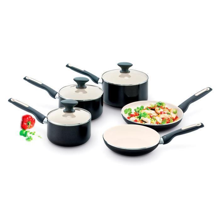 GreenPan Sofia Lot de 5 poêles et casseroles pour Induction en céramique avec revêtement Anti-adhésif en Aluminium