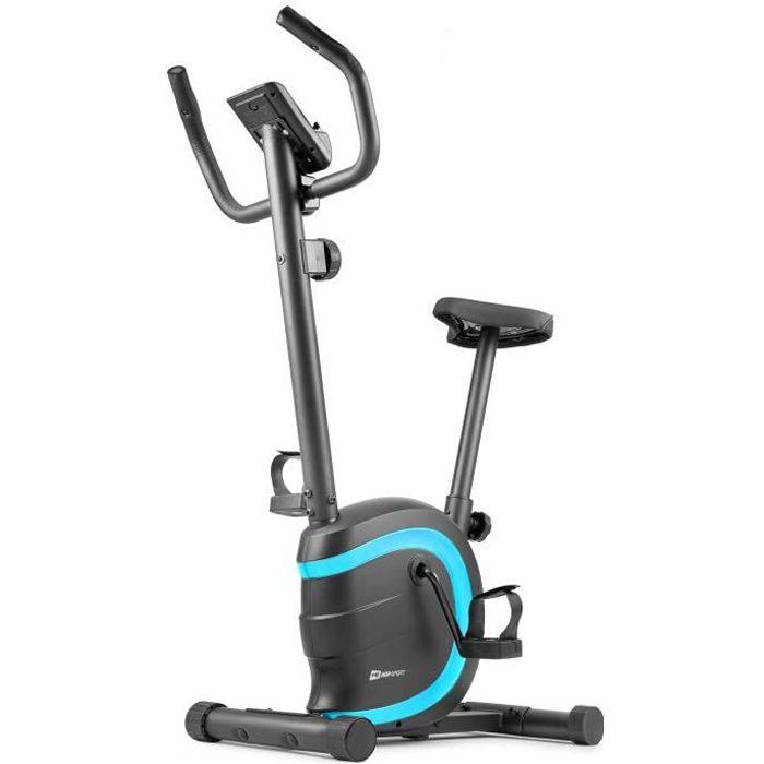 HOP-SPORT Vélo d'appartement HS-015H Vox – Roue d'inertie de 5 kg - Max 120 KG – vélo d'appartement en acier (Turquoise)