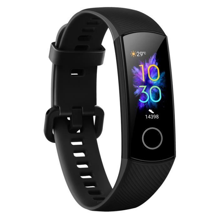 HUAWEI Honor Band 5 CRS-B19S Bracelet Intelligent Noir, Montre Connecté Écran AMOLED, Étanche 50M Sports Tracker D'activité