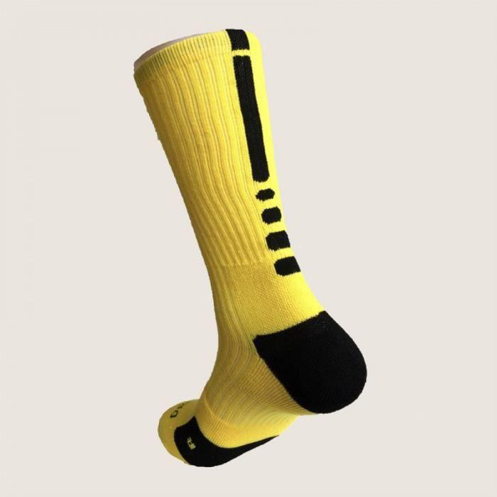Chaussettes L jaune Elite Chaussettes Hommes Longues Chaussettes Mâle Compression Chaussettes Hommes Chaussettes Meias Masculinas