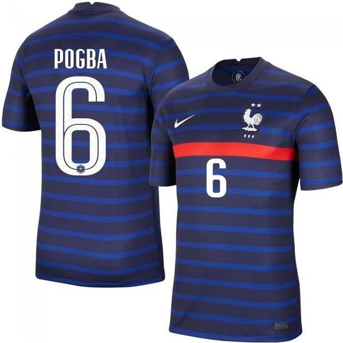 Maillot Paul Pogba Equipe de France FFF 2 Etoiles 2020 2021 EURO Maillot de Foot Pas Cher Homme