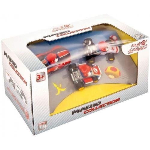 Pull & Speed Nintendo Mario Kart 'Mario' 3 Pack (Wii, MK8, Mach 8)