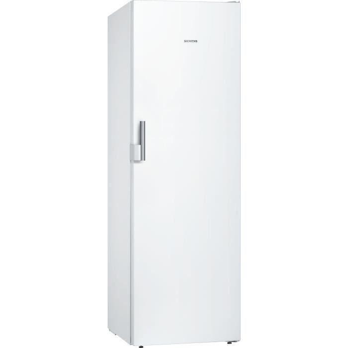 SIEMENS GS36NCWEV - Congélateur armoire pose libre - 242L - Froid brassé - 60x186cm - Blanc