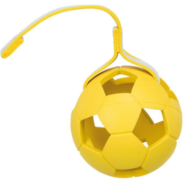 TRIXIE Balle avec sangle Sporting en caoutchouc naturel - Ø 11 cm-30 cm - Pour chien