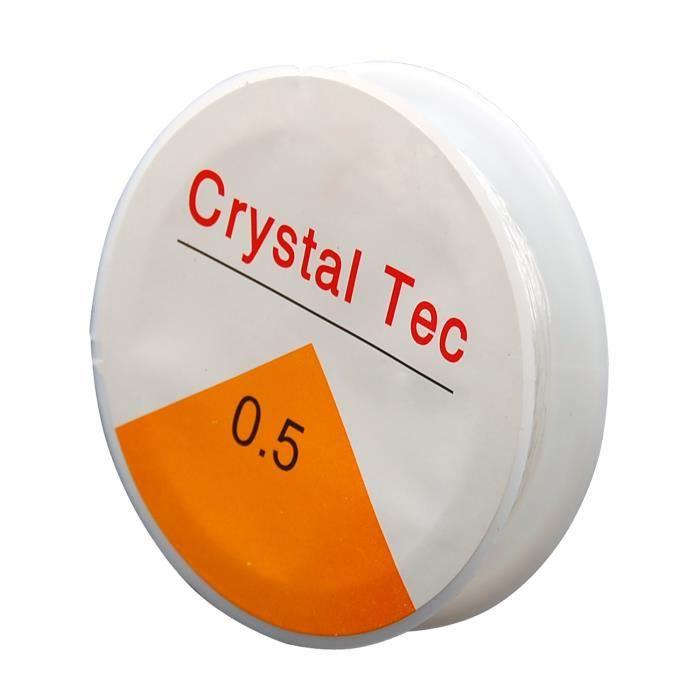 TRIXES Bobine de 20 m de fil élastique et solide 0,5 mm - transparent
