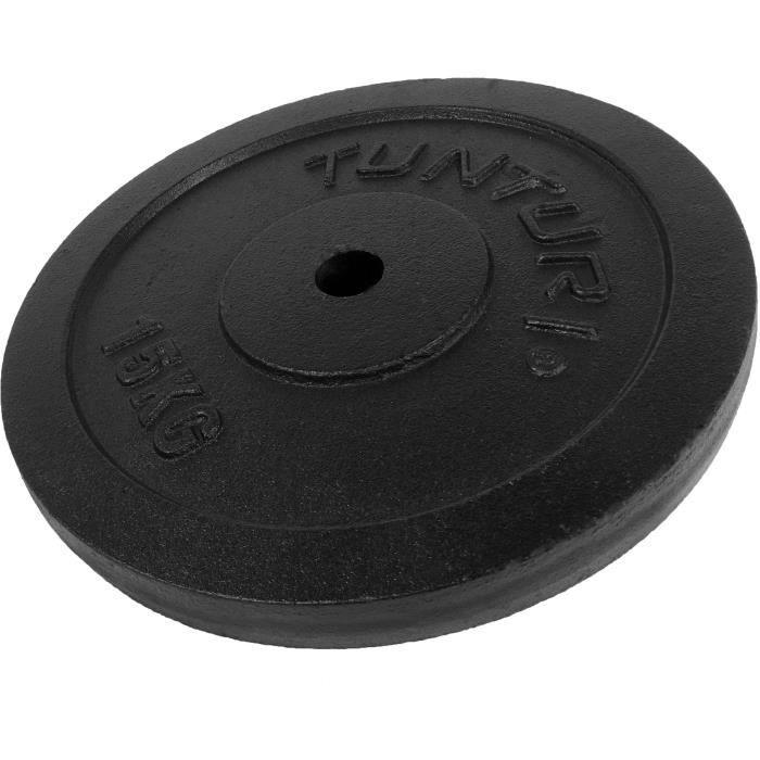 TUNTURI Disque musculation 15kg noir, unité