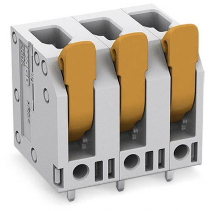 Borne pour circuits imprimés WAGO 2604-3302 4 mm² Nombre de pôles 2 1 pc(s) - CONNECTEUR SECTEUR