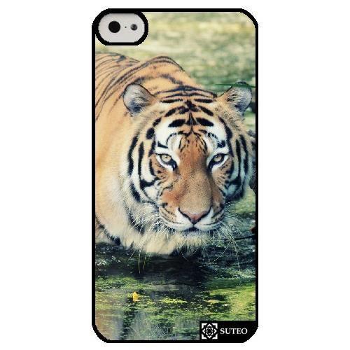 coque iphone 5c tigre dans son bain ref 416