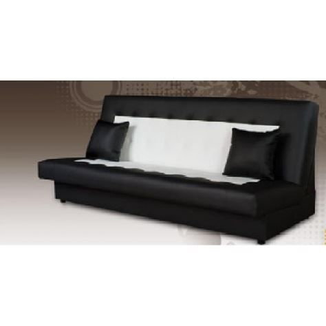 banquette clic clac lilas noir et blanc achat vente. Black Bedroom Furniture Sets. Home Design Ideas