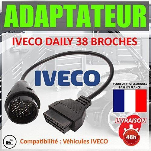 Câble Adaptateur Diagnostic OBD OBD2 vers 38 pins Iveco DAILY connecteur