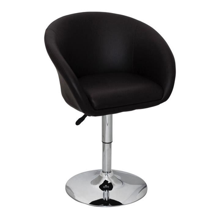 Fauteuil Rond Pivotant Odyssey Noir Design 360 Réglage Pratique Confort Pour Salon Stable Durable