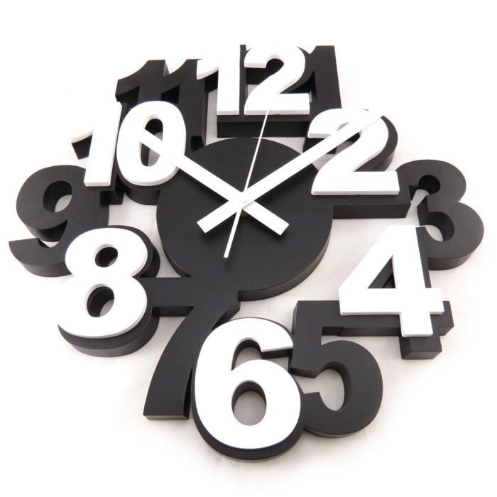 Horloge design les bons plans de micromonde for Grande pendule murale design