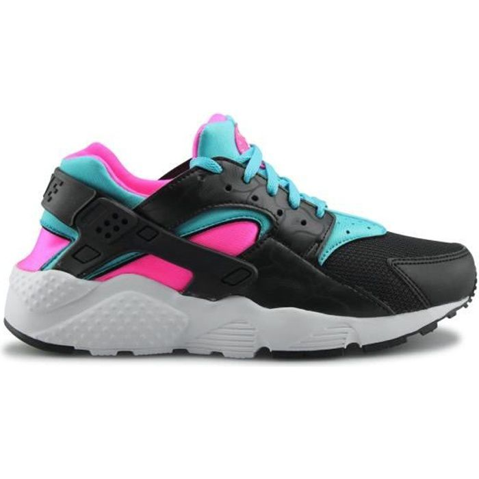 Basket NIKE HUARACHE RUN JUNIOR Noir/Rose