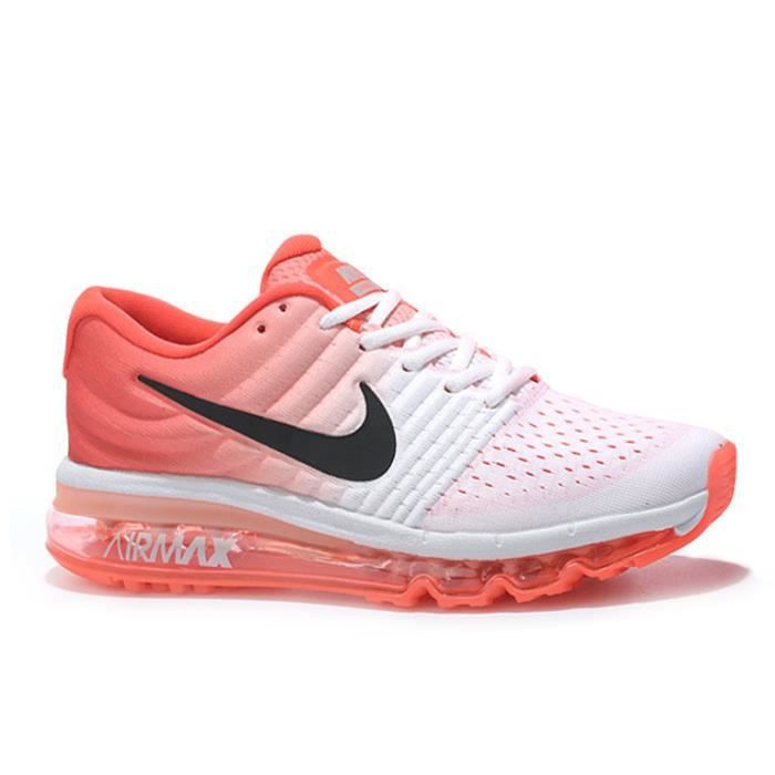 baskets nike air max 2017 femme chaussures de course blanc noir orange tu achat vente basket. Black Bedroom Furniture Sets. Home Design Ideas