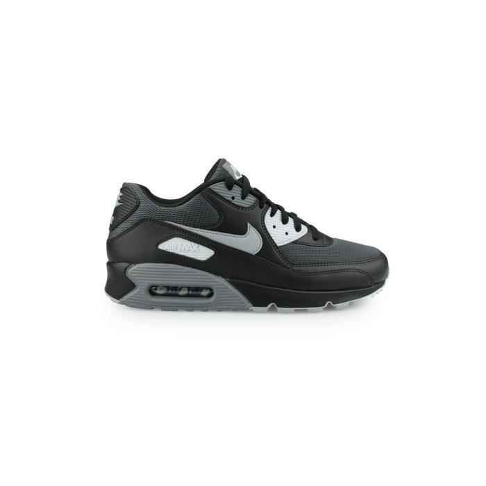 hot sale top brands skate shoes NIKE Basket Homme Air Max 90 Essential - Cuir - Noir et Gris ...