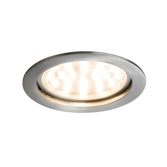 B-Carton Installation luminaires Paulmann DEL blanc 3x4 5 W gu10 installation lampes de plafond Lampes