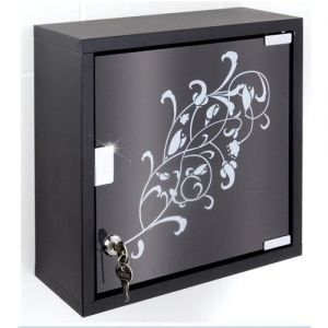 armoire pharmacie en inox noir et blanc achat vente armoire pharmacie armoire. Black Bedroom Furniture Sets. Home Design Ideas
